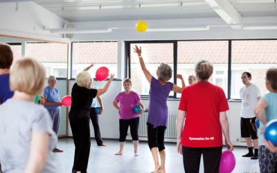 A Medau over 50s fitness class in action.